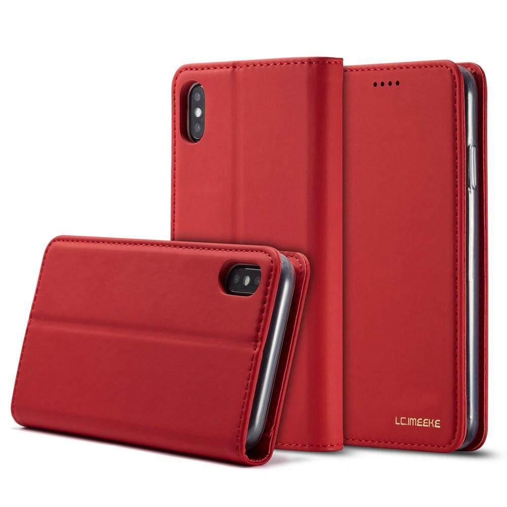 สำหรับ Apple Iphone 5 5s Se 6 6s 7 8 Plus X Xr Xs Max ตัวติดแม่เหล็กหนังกระเป๋าสตางค์ Pu & Tpu กระเป๋าโทรศัพท์กับเคสโทรศัพท์มือถือสล็อต.