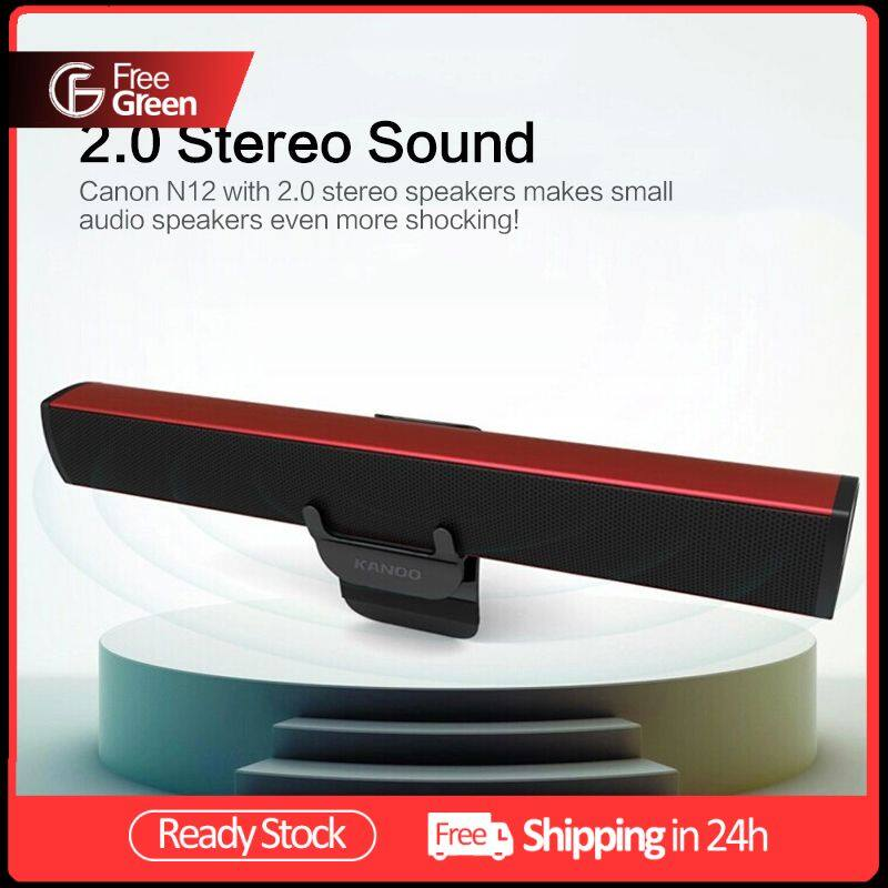 FreeGreen Portable Laptop/Computer/PC Speaker Subwoofer USB Soundbar Sound Bar Stick Music Player Speakers For Tablet Malaysia