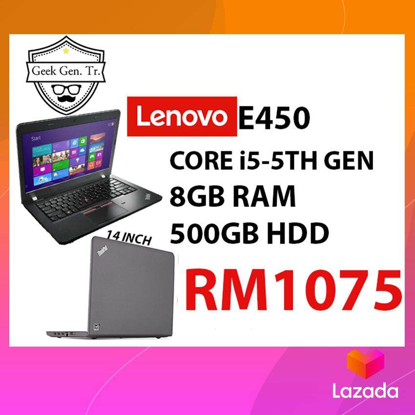 LENOVO THINKPAD E450 i5-5TH GEN 8GB RAM 500GB HDD 14 INCH Malaysia