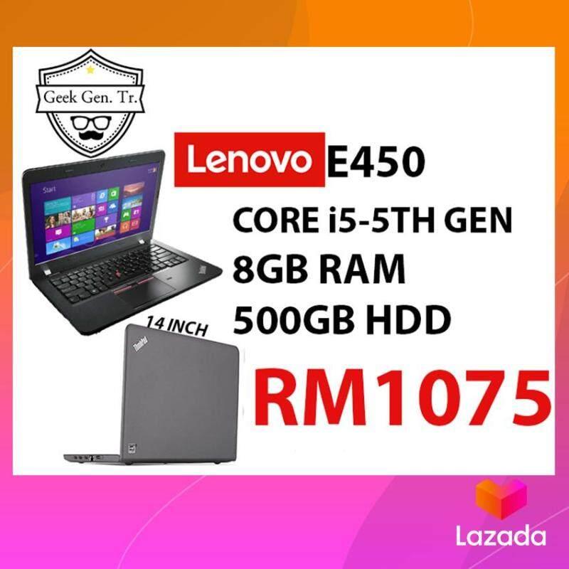 LENOVO THINKPAD E450 i5-5TH GEN 8GB RAM 500GB HDD 14 INCH Malaysia