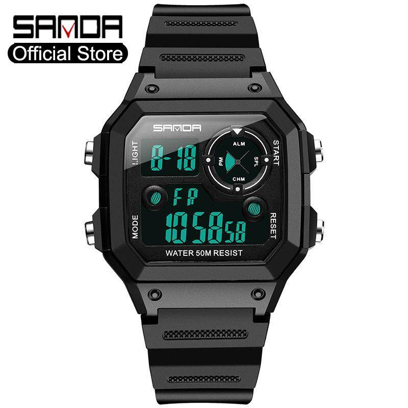SANDA Brand Men Sports Watch LED Military Users Outside Running Timing Electronic Digital Waterproof Watch Fashion Luxury Watch Malaysia
