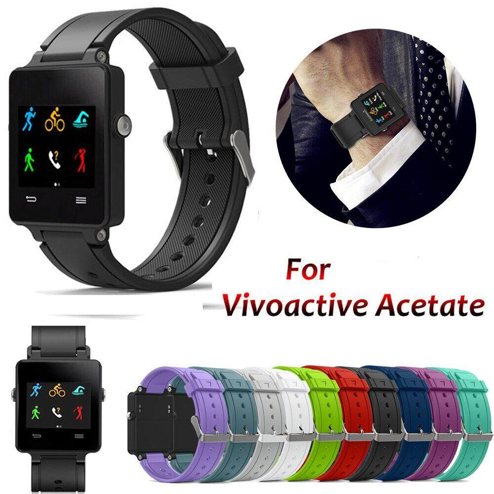 Replaceme Sport Silicone Bracelet Strap Wrist Band For Garmin Vivoactive Acetate