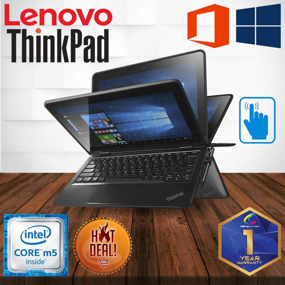 LENOVO THINKPAD YOGA 11e CONVERTIBLE 360 DIGREE IPS TOUCHSCREEN [ CORE M5/ 8GB DDR3/ 128GB SSD/ W10PRO/ 1 YEAR WARRANTY ] LAPTOP Malaysia
