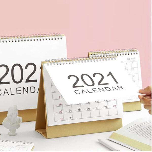 DSIUY Màu Trơn, Dành Cho Trường Học, Nhắc Nhở Ngày Giờ Lịch Trình Để Bàn Tại Nhà Kế Hoạch Văn Phòng Lịch Cuộn Để Bàn Sê-ri 2021 Đơn Giản Lịch Trình Hàng Ngày Hàng Năm