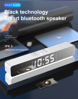 Winstong Thanh Âm Thanh USB 2 Trong 1 G12 Chính Hãng, Bluetooth Loa LED Đồng Hồ Thẻ Đồng Hồ Báo Thức Cài Đặt Màn Hình Gương Máy Nghe Nhạc Bluetooth Không Dây Có Dây Cho Computor Laptor Điện Thoại Thông Minh thumbnail