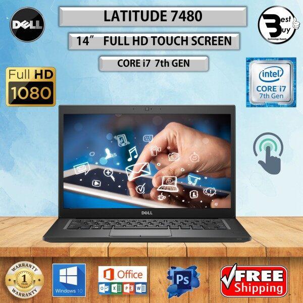 (TOUCH SCREEN) Dell Latitude 7480 CORE i7 (7TH GEN) 14 FHD / UP TO 32GB DDR4 RAM / 1TB M.2 SSD / 14 inch FULL HD TOUCH Screen / Intel HD Graphics 620 / REFURBISHED NOTEBOOK / DELL LATITUDE E7480 ULTRABOOK / ULTRA SLIM KOMPUTER Malaysia