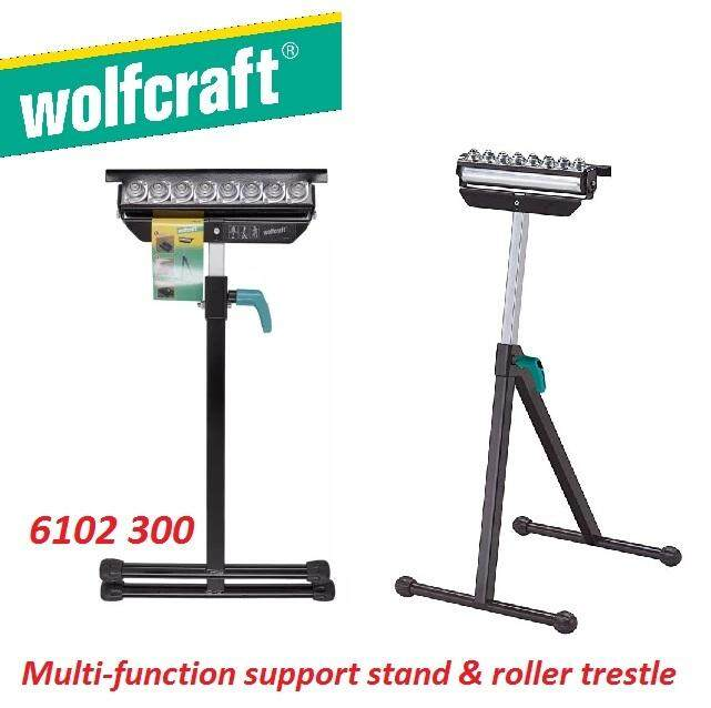 Wolfcraft Multi-Function Support Stand & Roller Trestle, Support Stand & Roller Trestle