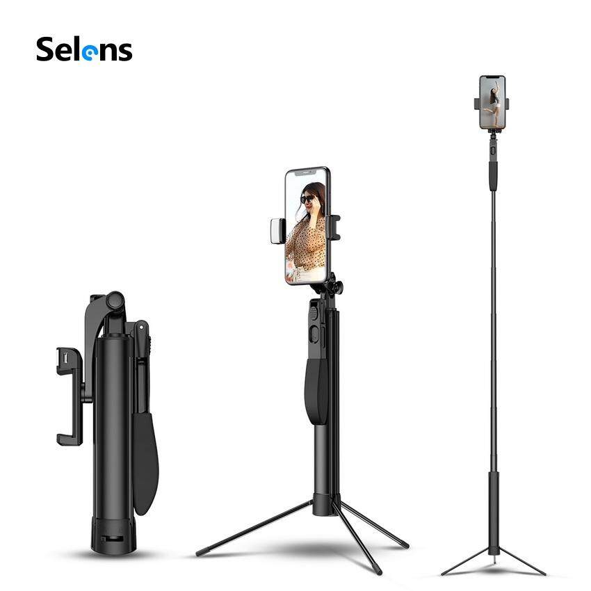 Voucher Ưu Đãi Selens MONOPOD TRIPOD Gimbal Ổn Định Đa Năng 4 Trong 1 Ổ Cắm Kéo Dài Cao Cấp Gậy Chụp Hình Selfie Stick Cho Điện Thoại Xiaomi Huawei IPhone Video Ảnh Vlog Chụp Ảnh