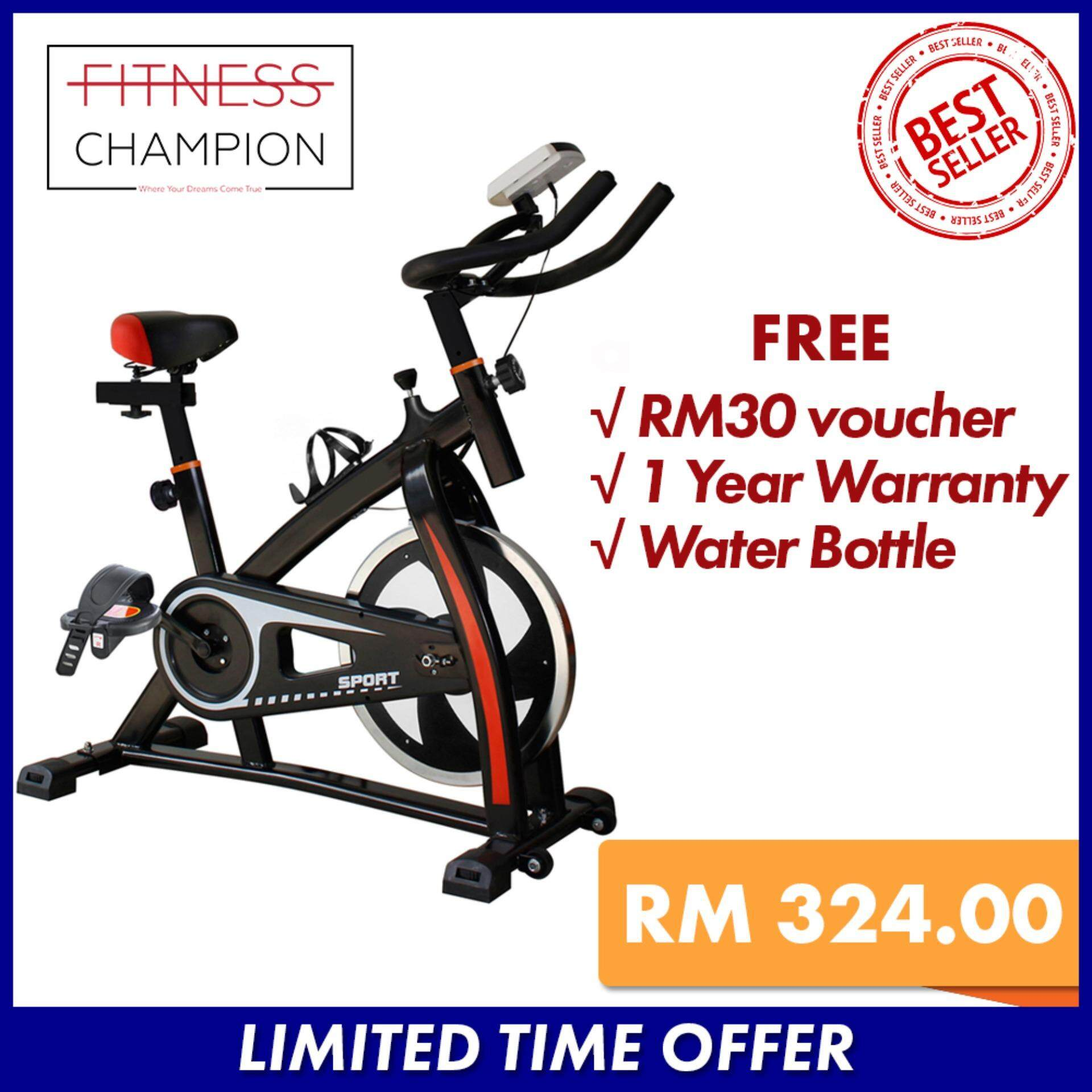 FITCHAMP : Indoor Fitness Exercise Bike Pro Bicycle with Water Bottle