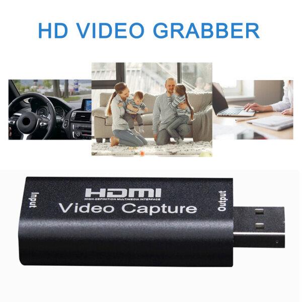 【Fast delivery】Portable USB 2.0 Audio Video Capture HD Card Professional HDMI Video Grabber Recorder Box Camera Recording Live Streaming