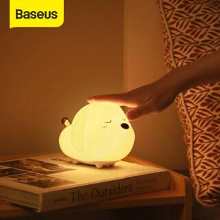 Baseus LED Dễ Thương Đèn Ban Đêm Silicon Mềm Cảm Biến Cảm Ứng Đèn Ban Đêm Cho Trẻ Em Phòng Ngủ Trẻ Em Có Thể Sạc Lại Chạm Vào Để Điều Khiển Đèn Ngủ thumbnail