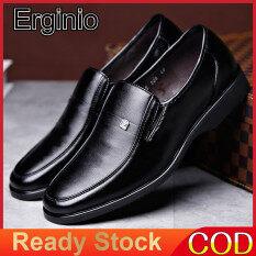 Giày Da Sợi Nhỏ Erginio Cho Nam Giày Công Sở Cho Doanh Nhân Giày Bệt Oxford Cổ Điển Phong Cách Cổ Điển