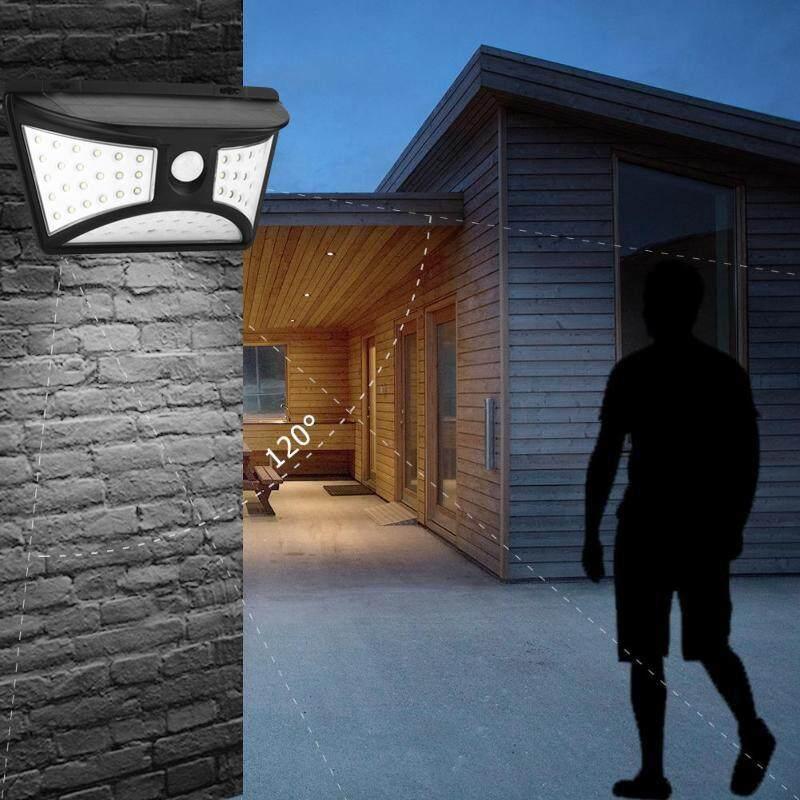 G&B Good Breeze Waterproof New Solar Wall Lamp 68LED Motion Sensor Light 3-Side For Garden Street Lamp