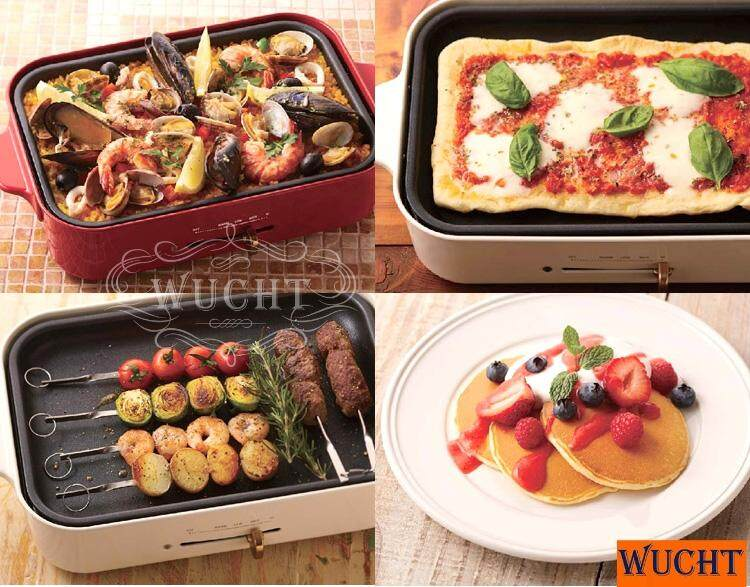 【wucht】 Bruno Compact Grill Set , Come With Grill Pan, Takoyaki Pan And Grid Pan For Grill *free Ceramic Pan Worth Rm228.00 - Great For Home Parties , Breakfast Or Dinner Preparation. By Wucht