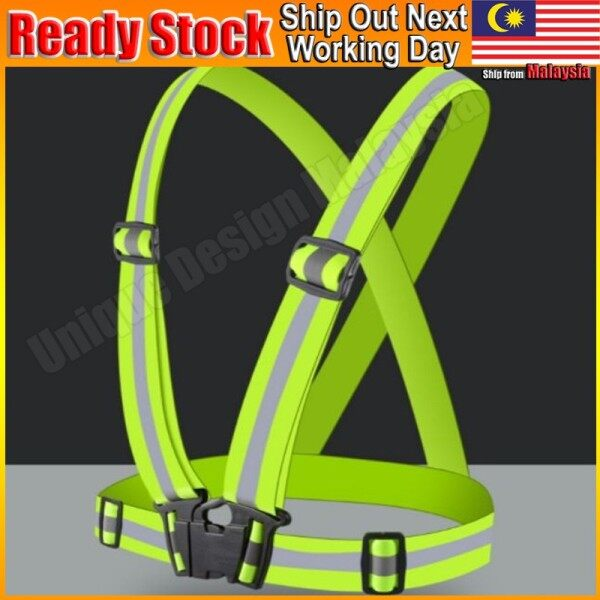 Adjustable Safety Visibility Reflective Vest Belt Night Glowing Outdoor Cycling Jogging