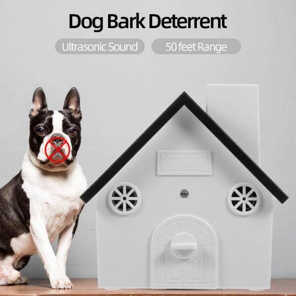 Pet Dog Kiểm Soát Vỏ Cây Ngoài Trời An Toàn Âm Thanh Siêu Âm Thiết Bị Chống Sủa Chống Nước 4 Cấp Độ Sonic Bark Răn Đe Chó Huấn Luyện Công Cụ Kiểm Soát