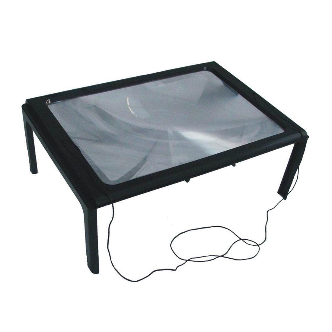 A4 Full Page 3X Table Desk Foldable Magnifying Glass Magnifier Reading Glass