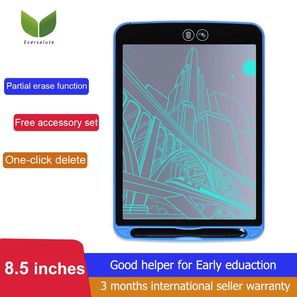 Eversalute LCD Writing Tablet,2019 New Arrival Partially Erasing Drawing  Tablet Writing Board ,Bulit In Thick handwriting Line And High Brightness