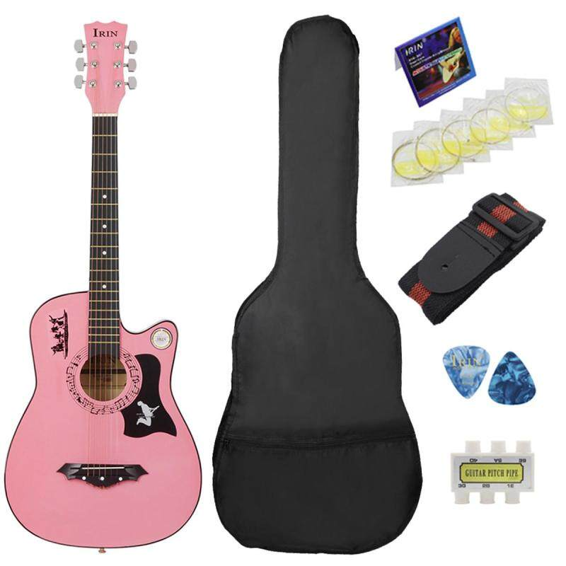38 6 String Wood Acoustic Guitar 382C Beginner Practice Kid Gift With Bag Multicolor Malaysia