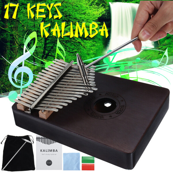 17 Key African Mahogany Wooden Finger Kalimba Piano Percussion Music Christmas Gifts Malaysia