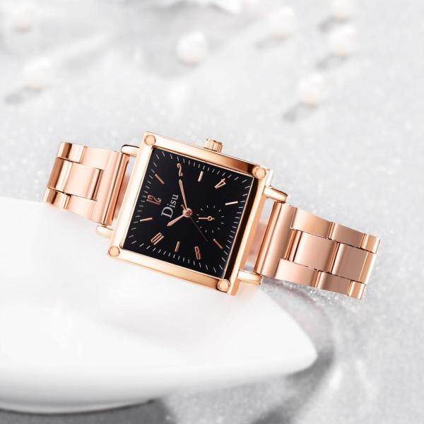 Tomagool Simple Stylish With Small Dial Square Dial Alloy Strap Ladies Quartz Watch Malaysia