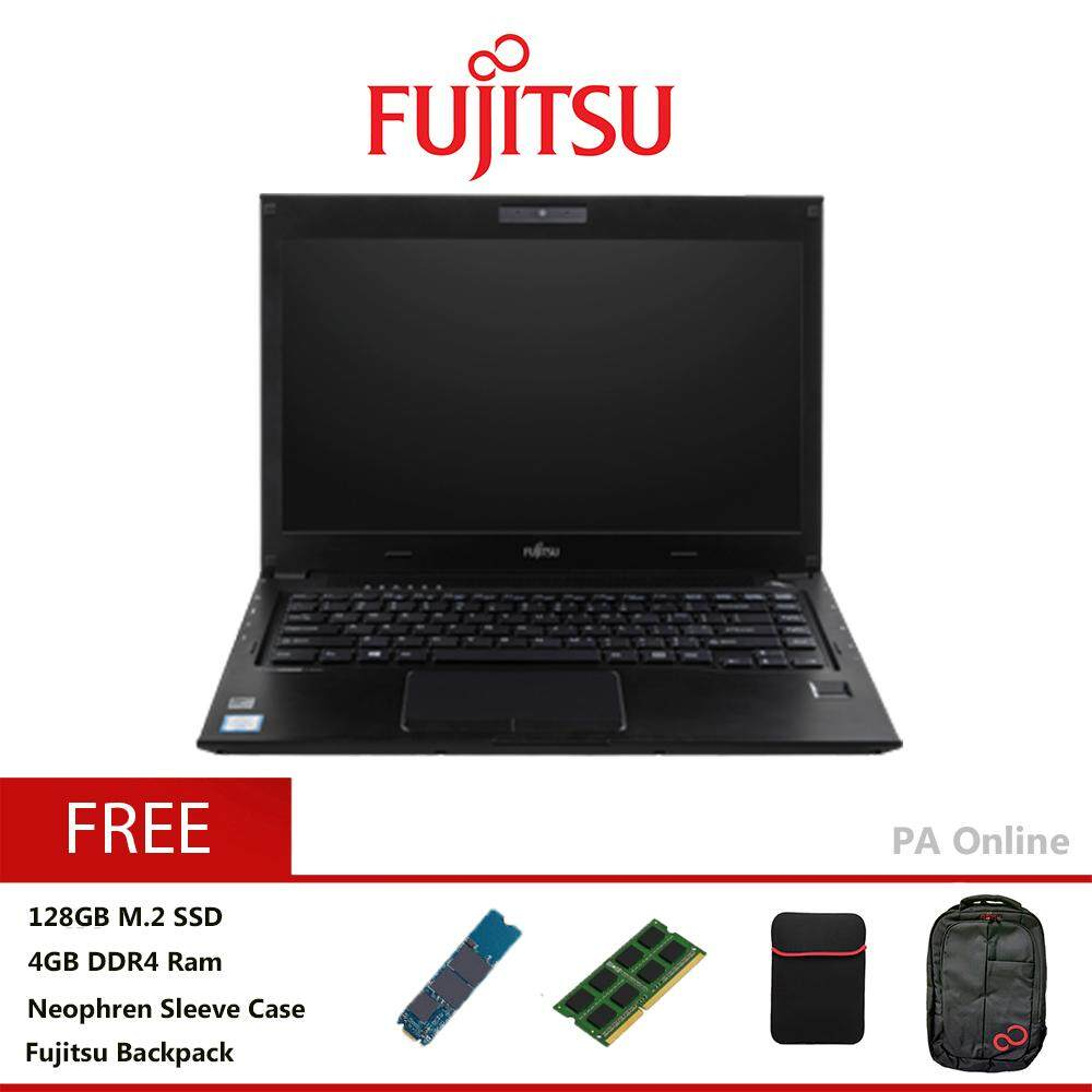 Fujitsu Lifebook U536 -128GB SSD /Intel Core i3-6100u/8GB/128GB+500GB HDD/Intel HD 520/13.3 HD/Win 10/1 Years Malaysia