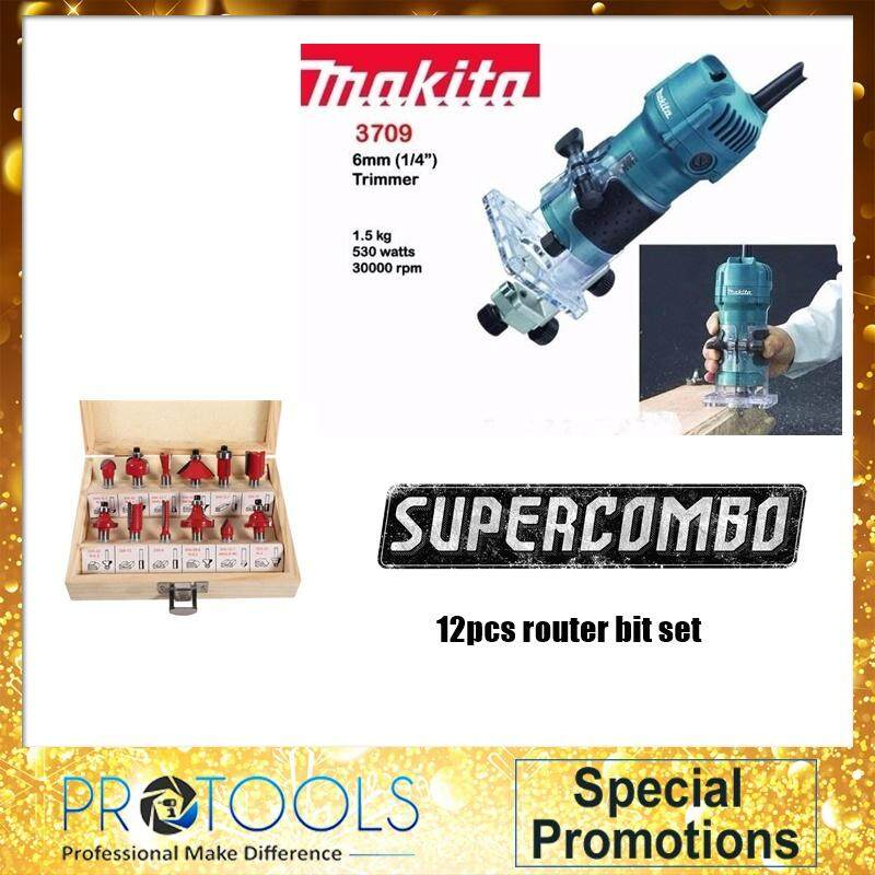 MAKITA 3709 6mm Trimmer COMBO SET