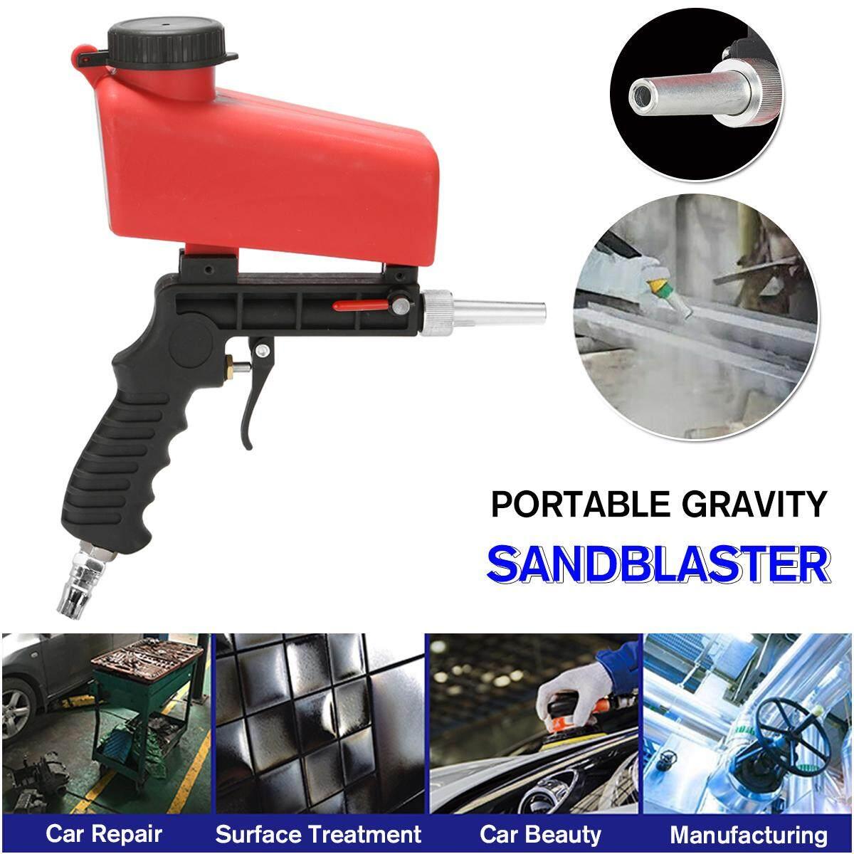 Ergonomic Portable Gra vity Pneumatic Sandblaster Sandblasting Machine Removing Spot Rust