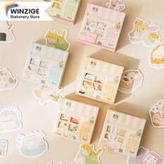 Winzige 45 Cái Miếng Dán Hình Động Vật Dễ Thương Đặt Trang Trí Phim Hoạt Hình Dán Nhật Ký Album