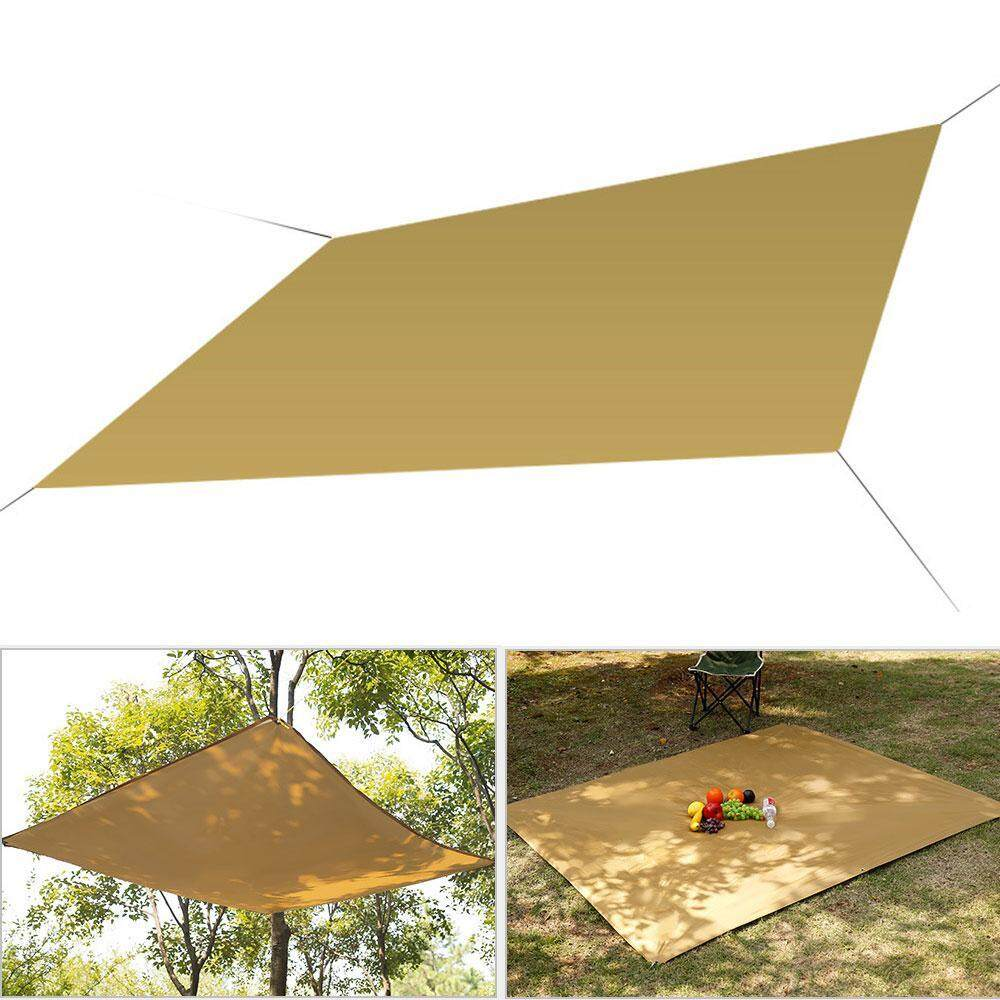 OrzBuy Outdoor Sun Shade Sails Sunscreen Canopy, 90% UV Protection Waterproof Polyester Cloth For Yard Garden Outdoor Sun Protection Canopy