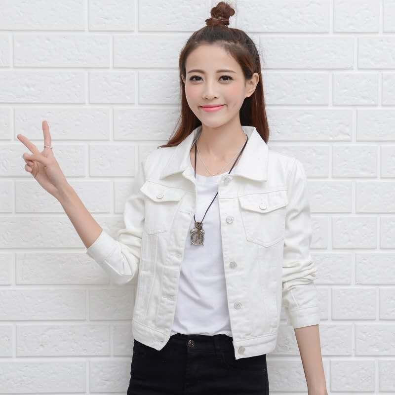 Áo Khoác Jean, Áo Khoác Nữ Dài Tay, Thời Trang Mỏng Phiên Bản Hàn Quốc Google