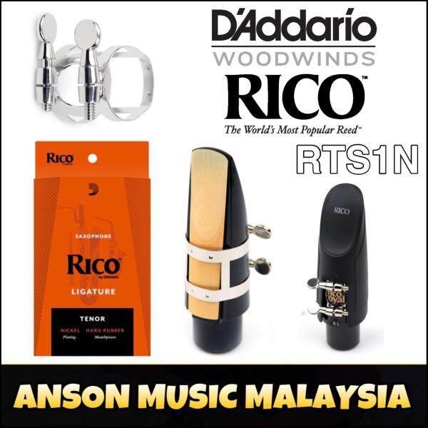 Rico by DAddario Ligature & Cap, Tenor Saxophone (Hard Rubber), Nickel (RTS1N) (Daddario) Malaysia