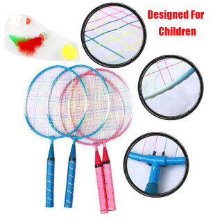 1 Pair Sports Kids Racket Sturdy Toy For Kid Shuttlecock andBall Children s Badminton Racket Double Racket Badminton Rackets thumbnail