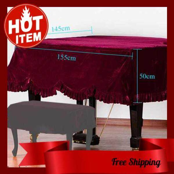 HOT SALE Grand Piano Pleuche Bordered Dust Protective Cover Cloth Malaysia