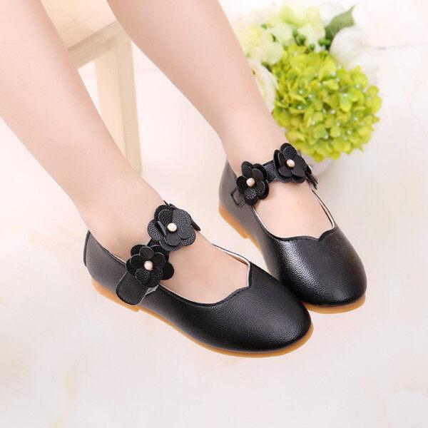 Giá bán (GEJ) giày búp bê bé gái giày cho bé gái giay tre em be gai giày công chúa bé gái Trẻ em Kid Bé Cô Gái Rắn Hoa Đơn Sinh Viên Khiêu Vũ Mềm Mại Giày Công Chúa