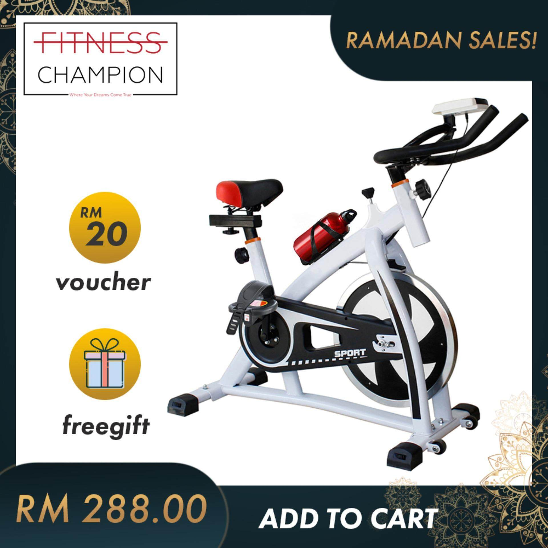 Fitchamp : Indoor Fitness Exercise Bike Pro Bicycle With Water Bottle By Fitness Champion.