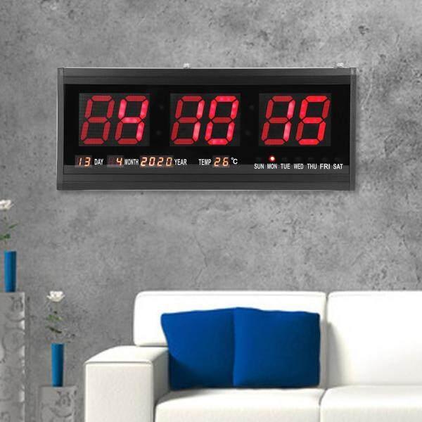 Đồng Hồ Để Bàn Treo Tường LED Chữ Số Lớn Hiển Thị Kỹ Thuật Số Có Lịch, Nhiệt Độ