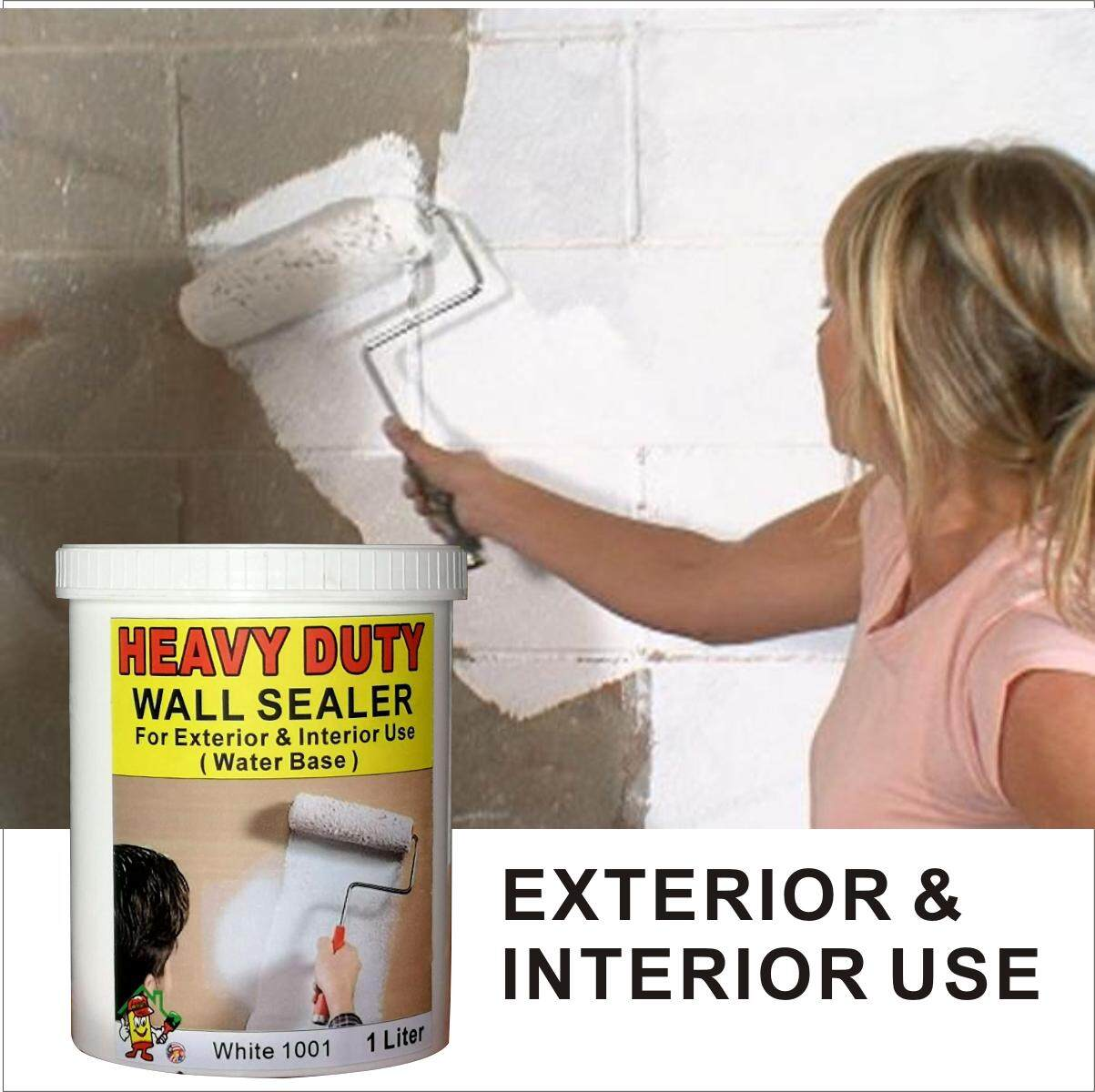 WALL SEALER HEAVY DUTY ( 1L ) FOR EXTERIOR & INTERIOR WALL PAINT WATER BASE WHITE COLOUR 1 LITER AND ALSO DEALER JOTUN NIPPON DULUX