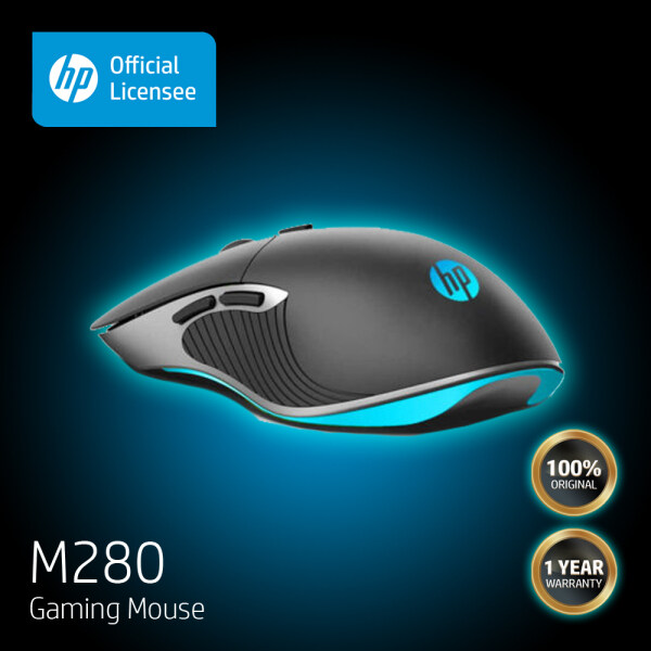 HP M280 Optical Gaming Mouse - 4 Color LED | 6 buttons | 4 adjustable DPI | USB | For PC and Mac ( 1 Year Local Warranty ) Malaysia