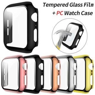 1 X Ốp Lưng Cho Apple Watch 3D Cong Mạ Đầy Đủ Kính Cường Lực Bảo Vệ Màn Hình Vỏ PC Cho Đồng Hồ Series 5 4 40Mm 44Mm thumbnail