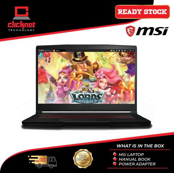 MSI Gaming Laptop THIN GF63 9SCXR-604 15.6 FHD Black ( i5-9300H, 4GB, IPS, 256GB, GTX1650 Max-Q, W10 ) Malaysia