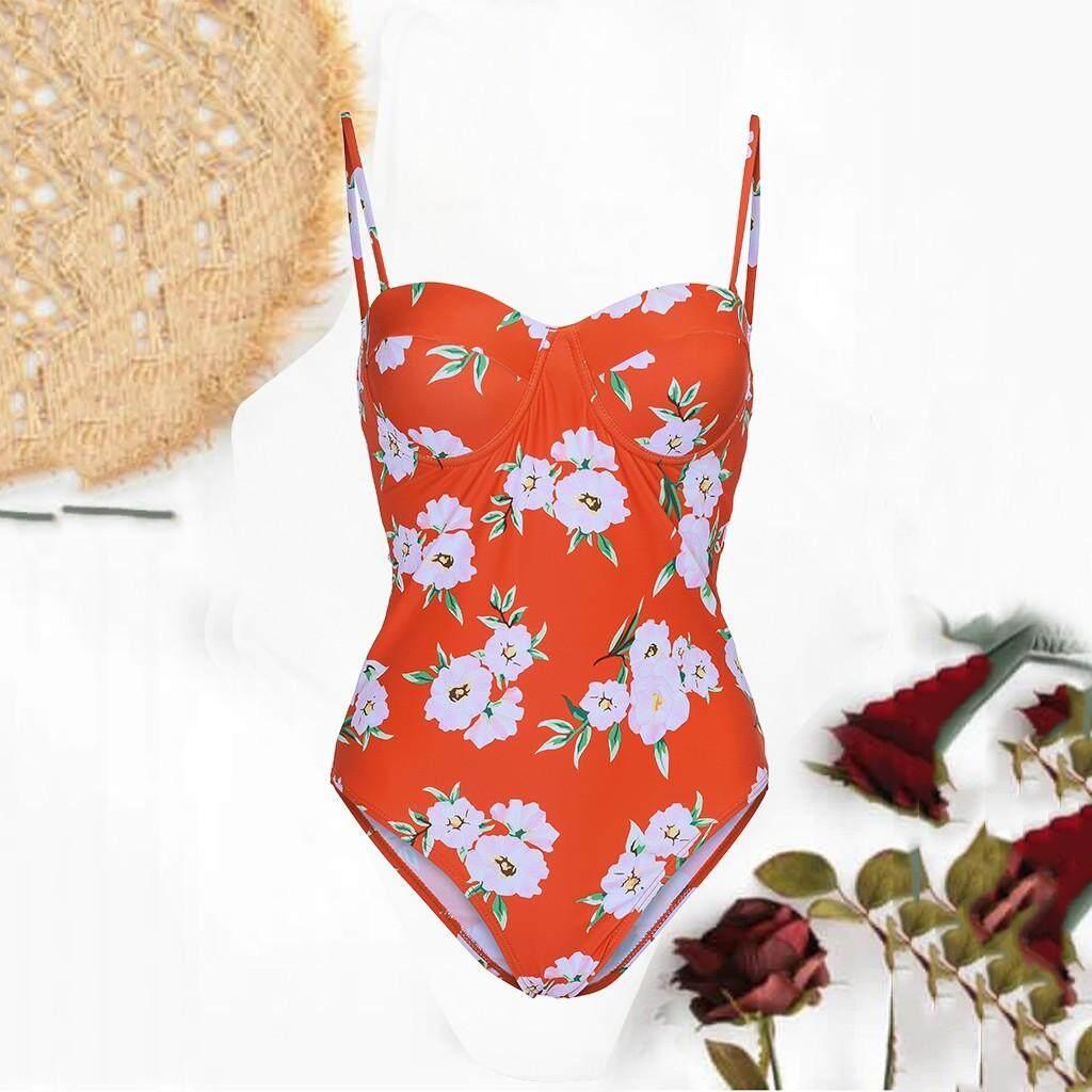 Womens Bikini One Piece Swimsuit Pushups Filled Bra Swimwear Beachwear By Iuneed.