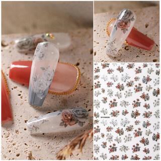 1 7 Sheets Đầy Màu Sắc Thiên Thần Họa Tiết Hoa Vintage Hoa Giấy Foil Dán Móng DIY Trang Trí Móng Nghệ Thuật Tự Dính Đề-can Móng Tay 3D Miếng Dán Móng Tay thumbnail