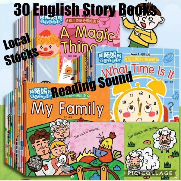 Children English Story Books (30 Books) with Reading Sound Age 3 - 6 Years Old / Sound Engllish Books / Beadtime Story Books Malaysia
