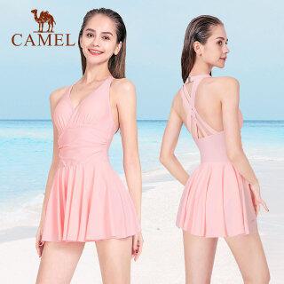 CAMEL Bộ Đồ Bơi Nữ Xếp Li Một Mảnh Thời Trang Mùa Hè, Bơi Bơi Váy, Phụ Nữ Đồ Bơi Đồ Bơi Gợi Cảm Ngoại Cỡ Ins thumbnail