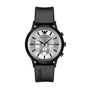 Pra Hot EMPORIO ARMANI AR11048 Fitur Jam Perak Putih Sunray Chronograph 0e4926f439