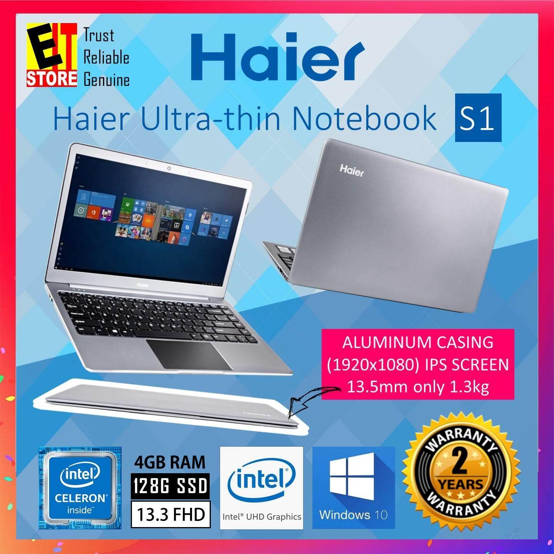 HAIER S1 ULTRA-THIN NOTEBOOK (GEMINI LAKE N4000/4GB/128GB SSD/13.3 FHD IPS/INTEL UHD/W10/2YRS) Malaysia