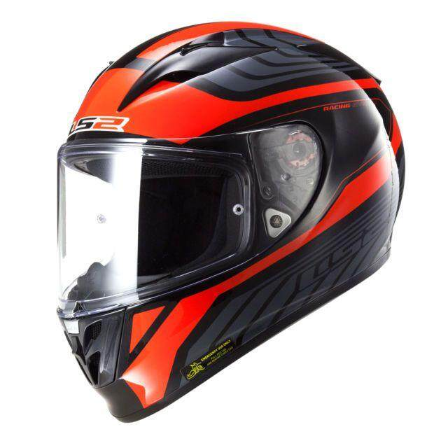 LS2 FF323 ARROW R BURNER BLACK RED MOTORCYCLE HELMET