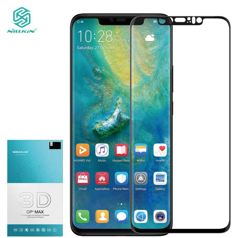 Huawei Mate 20 Pro Tempered Glass, NILLKIN 3D CP+ MAX Full coverage Tempered Glass film