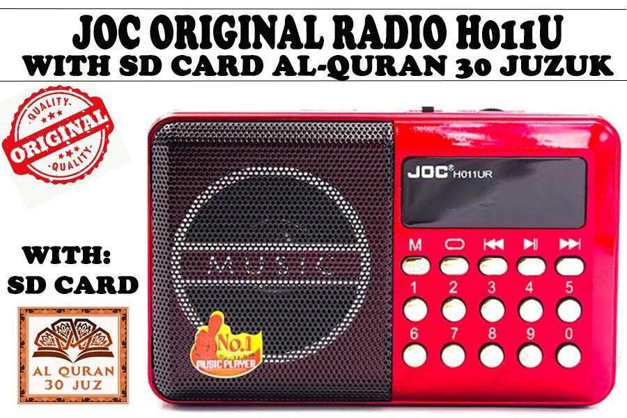 JOC Original Portable Radio With 8GB SD Card Ayat AlQuran 30 Juzuk